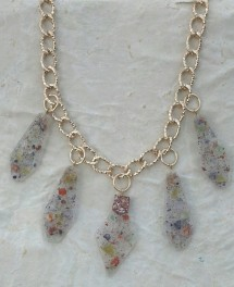 Crushed Glass Necklace